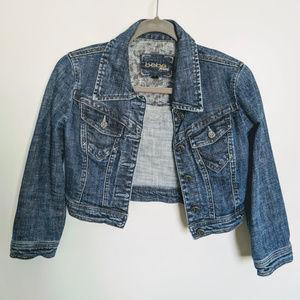 Bebe cropped jean jacket